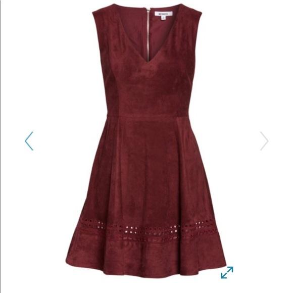 9a0ede88fb BB Dakota Lynne faux suede dress size 4 NWT